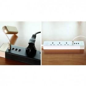 Remax Business Version RU-S2 4 Ports USB Hub Charger and 3 EU Universal Plug - White - 3