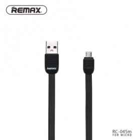 Remax Puff Fast Charging Micro USB Cable for Smartphone - RC-045m - Black