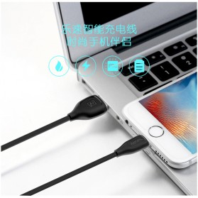 Remax Lesu Lightning Data Cable for iPhone - RC-050i - Black - 4