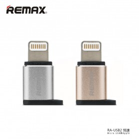 Remax Micro USB to Lightning Apple Adapter Converter - RA-USB2 - Silver - 2