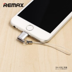 Remax Micro USB to Lightning Apple Adapter Converter - RA-USB2 - Silver - 3