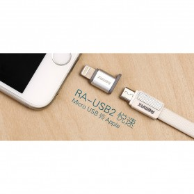 Remax Micro USB to Lightning Apple Adapter Converter - RA-USB2 - Silver - 4