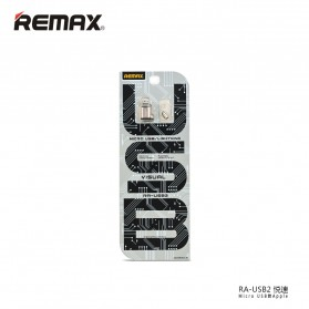 Remax Micro USB to Lightning Apple Adapter Converter - RA-USB2 - Silver - 5