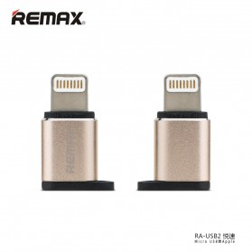 Remax Micro USB to Lightning Apple Adapter Converter - RA-USB2 - Golden
