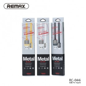 Remax Metal Fast Charging Lightning USB Cable for iPhone 5/6/7/8/X - RC-044i - Black - 3