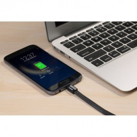 Remax Metal Fast Charging Lightning USB Cable for iPhone 5/6/7/8/X - RC-044i - Black - 4