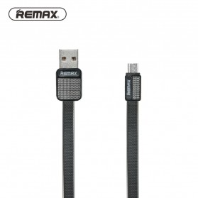 Remax Metal Fast Charging Micro USB Cable for Smartphone - RC-044m - Black