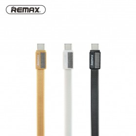 Remax Metal Fast Charging Type-C USB Cable for Smartphone - RC-044a - Black - 3