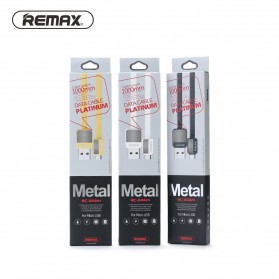 Remax Metal Fast Charging Type-C USB Cable for Smartphone - RC-044a - Black - 4