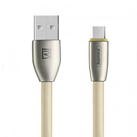 Remax Knight Micro USB Cable for Android Smartphone - RC-043m - Golden