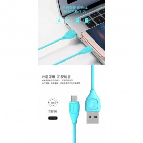 Remax Lesu Type C USB Data Cable for Smartphone - RC-050a - Black - 4