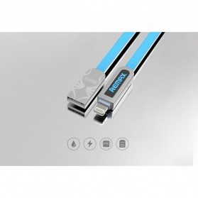 Remax Armor 2 in 1 Kabel Micro USB Lightning 2.1A - RC-067t - Blue - 4