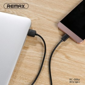 Remax Light Kabel USB Type C - RC-006a - Black - 3