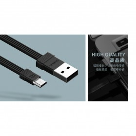 Remax Tengy 2 in 1 Micro USB Cable - RC-062m - Black - 3