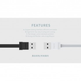 Remax Tengy 2 in 1 Lightning USB Cable - RC-062i - Black - 6