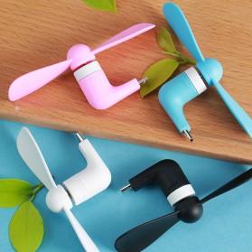 Remax Mini Portable USB Fan Micro USB Port for Smartphone - F10 - Black
