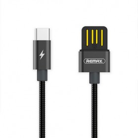 Remax Silver Serpent Kabel USB Type C - RC-080a - Black