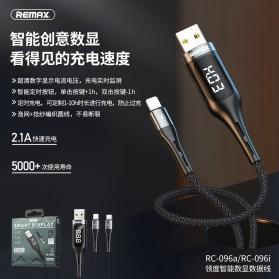 Remax Leader Kabel Charger Lightning Smart Display 2.1A 1.2 Meter - RC-096i - Black - 2