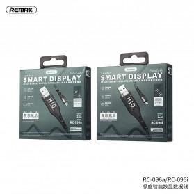 Remax Leader Kabel Charger Lightning Smart Display 2.1A 1.2 Meter - RC-096i - Black - 3