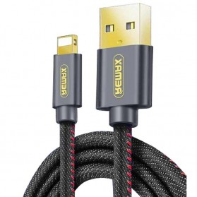 Remax Jeans Series Lightning Cable 1.8m for iPhone - RC-096i - Black