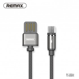 Remax Gravity Kabel Charger Magnetic Micro USB - RC-095m - Black