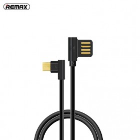 Remax Axe Series L Shape Kabel Charger Micro USB 1.2 Meter - RC-083m - Black