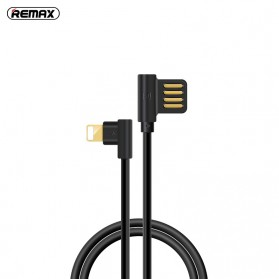 Remax Axe Series L Shape Kabel Charger Lightning 1.2 Meter - RC-083i - Black
