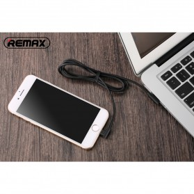 Remax Axe Series L Shape Kabel Charger Lightning 1.8 Meter - RC-083i - Black - 4