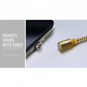 Remax Gravity Kabel Charger Magnetic Lightning - RC-095i - Black - 2
