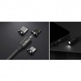 Remax Gravity Kabel Charger Magnetic Lightning - RC-095i - Black - 3