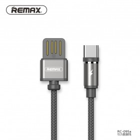 Remax Gravity Kabel Charger Magnetic USB Type C - RC-095a - Black