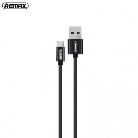 Remax Fabric Series Kabel Charger Micro USB - RC-091m - Black