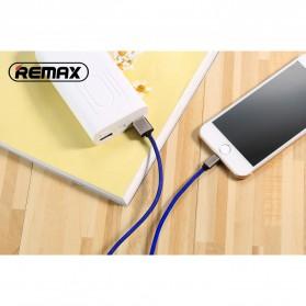 Remax Fabric Series Kabel Charger Lightning - RC-091i - Black - 2