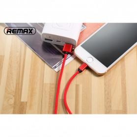 Remax Fabric Series Kabel Charger Lightning - RC-091i - Black - 3