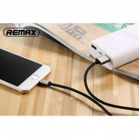 Remax Fabric Series Kabel Charger Lightning - RC-091i - Black - 5