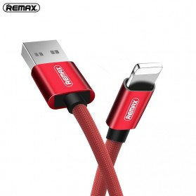 Remax Fabric Series Kabel Charger Lightning - RC-091i - Black - 6
