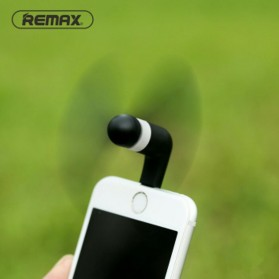 Remax Mini Portable USB Fan Lightning Port for Smartphone - F10 - Black