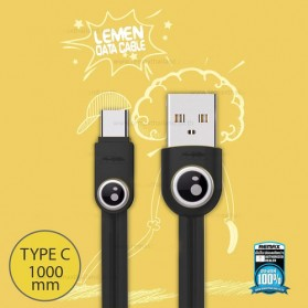 Remax Lemen Kabel USB Type C - RC-101a - Black