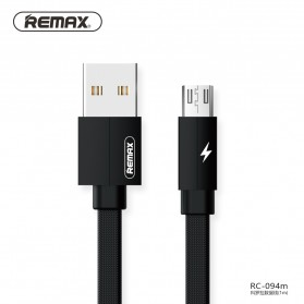 Remax Kerolla Fabric Kabel Micro USB 1M - RC-094m - Black