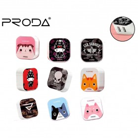 Proda Saiya Series Charger USB 2 Port 2.4A - RP-U213 - Multi-Color