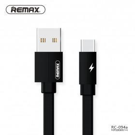 Remax Kerolla Fabric Kabel USB Type C 1M - RC-094a - Black