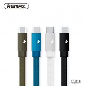 Remax Kerolla Fabric Kabel USB Type C 1M - RC-094a - Black - 2