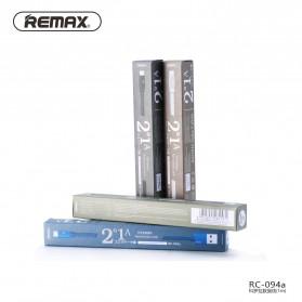 Remax Kerolla Fabric Kabel USB Type C 1M - RC-094a - Black - 3