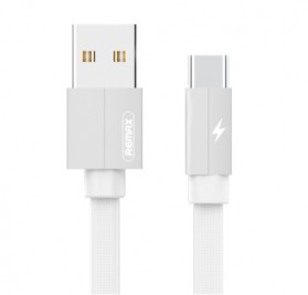 Remax Kerolla Fabric Kabel USB Type C 2M - RC-094a - White