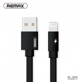 Remax Kerolla Fabric Kabel Lightning 1M - RC-094i - Black