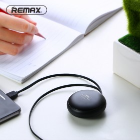 Remax Cutebaby Kabel Micro USB Lightning Retracable - RC-099T - Black - 2