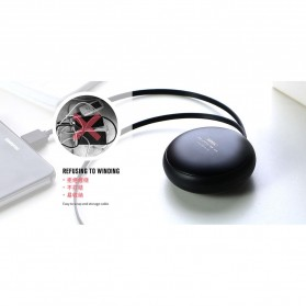 Remax Cutebaby Kabel Micro USB Lightning Retracable - RC-099T - Black - 3