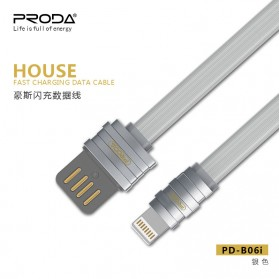 Proda House Series Kabel Charger Lightning - PD-B06i - Dark Gray