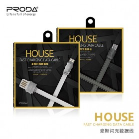Proda House Series Kabel Charger Lightning - PD-B06i - Dark Gray - 5