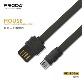 Remax Proda House Series Kabel Charger Micro USB - PD-B06m - Dark Gray - 2
